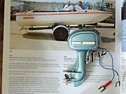 Vintage Toy Electric Outboard Boat Motor Miniature Collectable Model