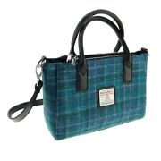 Ladies Authentic Harris Tweed Small Tote Bag With Shoulder Strap Lb1228 Col 92
