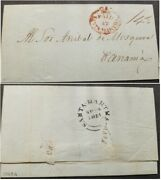 A 1851 Colombia Entire Letter From Santa Marta To Panama Addressed To Snr A