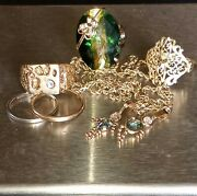 Wear Or Resale 14k And 10k Solid Gold With Some Diamonds 36.2g With Stones