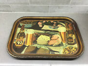 1930and039s Oertels And03992 Lager Beer Bar Metal Serving Tray. H.d. Beach Coshocton