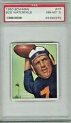 1950 Bowman Football 17 Bob Waterfield Psa 8 Nr Mint Mint