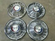 1963 Ford Galaxie 500 14 Hubcaps Wheel Cover Set Of 4 Vintage Hot Rod