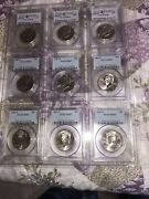 2009/2007 Pcgs Sp67 And 68 Half Dollar Kennedy Lot Of 9