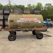 Tank Bauser 1000-gallon Fuel Oil Hydraulic Trailer Mounted Stainless Aviation Us