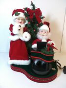 Singing Santa And Mrs Claus Animated Motion Trim A Home Piano Christmas Lrg 18x15