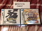 Pokemon White And White 2 Version Factory Sealed New Lot Of 2 Nintendo Ds Games