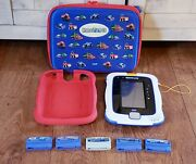Vtech Innotab 3s With Red Case / Zippered Carry Case And 5 Game Cartridges