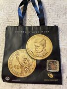 Cents In A Lucite Paperweight Marked Frozen Assets+jfk Shoppingbag