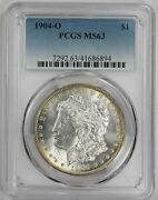 1904 O Morgan Dollar Pcgs Ms 63 Freshly Graded Just Back From Pcgs