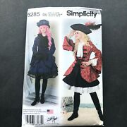 Simplicity Sewing Pattern 8285 14-22 Pirate Costume Military Jacket Bustle Skirt