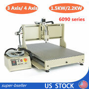 1.5kw/2.2kw Usb 4 Axis 6090 3d Cnc Router Metal Drill Mill Engraving Machine