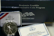 2006 Ben Franklin Scientist Proof Silver Dollar Commemorative Coin Box And Coa