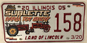 Antique Farm Machinery Tractor Show License Plate Toy Farmer Deere Agriculture