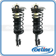 2x Quick Complete Rear Strut Coil Springs For 90-94 Mazda Protege W/ Mounts F