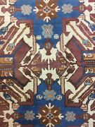 Antique Old Handmade Kazak Wool Rug Carpet Shabby Chicsize7 By 5.6 Ft