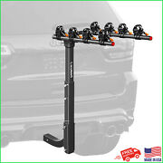 Double Foldable 4-bike Rack 2-inch Hitch Mount Alloy Steel Bicycle Carrier Racks