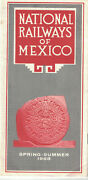National Railways Of Mexico Time Table Spring Summer 1968