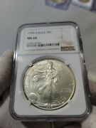 1996 Silver Eagle Doubled Die Obverse Ngc Ms66 Beautiful Coin.