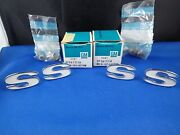 Nos Gm 1967 Camaro Ss Front Fender Emblems Letters New In Box 3917718