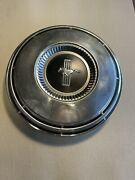 Vintage Ford Mustang Center Hubcap W/pony Logo 10 1/2andrdquo Diameter 60andrsquos Or 70andrsquos