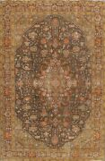 Geometric Semi Antique Traditional Handmade Area Rug Evenly Low Pile Wool 8x11