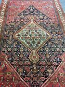 Old Used Antique Per Sian Handmade Wool Rugcarpetshabby Chicsize9.5by 5.6ft