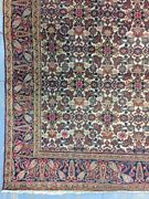 Antique Old Used Handmade Wool Rug Carpet Shabby Shabby Chic,size12.5 By 5.2ft