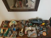 Vintage Micro Machines Toy Lot - Car Truck Plane Boat Tank Submarine Military