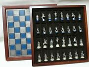 1983 Franklin Mint National Historical Society Pewter Civil War Chess Set