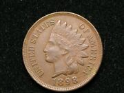 Blow Out Sale Xf 1898 Indian Head Cent Penny W/ Diamonds And Full Liberty 92k