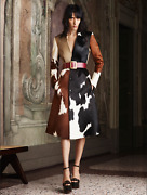 Bally Perfect Multicoloured Hide Coat Ss 2014 Size 40 Y2k Style