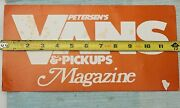 Rare 1970and039s Petersonand039s And Pickups Magazine License Plate Boogie Street Van