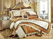 High Quality 11pc Luxury Silk Cotton Royal Bedding Set For Wedding Bed Cover