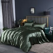 100 Mulberry Silk Bedding Sets Bed Linen Queen Bed Fitted Sheet Comforter Cover