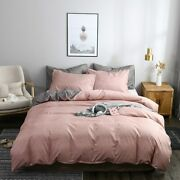 Bedding Set Duvet Cover Fitted Sheet Pillowcases Mattress Grey Bed Cover