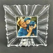 Mikasa Monarch Square Crystal Photo Frame Holds Photo 3.875 X 3.875
