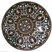 42 Marble Dining Table Top Inlay Rare Semi Round Center Coffee Table Ar1322