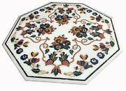 42 Marble Dining Table Top Inlay Rare Semi Antique Center Coffee Table Ar1342
