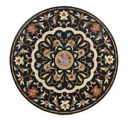 42 Marble Dining Table Top Inlay Rare Semi Round Center Coffee Table Ar1308