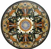 42 Marble Dining Table Top Inlay Rare Semi Round Center Coffee Table Ar1303