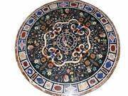 42 Marble Dining Table Top Inlay Rare Semi Round Center Coffee Table Ar1300