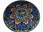 42 Marble Dining Table Top Inlay Rare Semi Round Center Coffee Table Ar1325