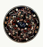 42 Marble Dining Table Top Inlay Rare Semi Round Center Coffee Table Ar1310