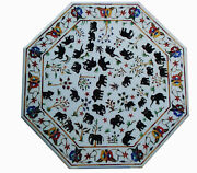 42 Marble Dining Table Top Inlay Rare Semi Antique Center Coffee Table Ar1347