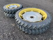 Rowcrop Wheels And Tyres For John Deere 6600 230/95r32 And 230/95r48 Vgc Plus Vat