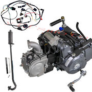 Lifan 125cc 4 Up Engine Motor+wiring+exhaust Pipe Fr Crf50 Crf70 Ct70 Ct90 Z50