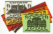 1922 Germany Notgeld Money 8pc City Of Gustrow // 50 75 And 100 Pfennig Notes