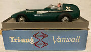 1950and039s/60and039s Triang Electric Vanwall Racing Green 120 Scale Boxed Vintage Minic