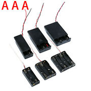 Battery Holders Case Box Storage With Wire 2 Aaa ,3 Aaa, 4 Aaa Battery Holders